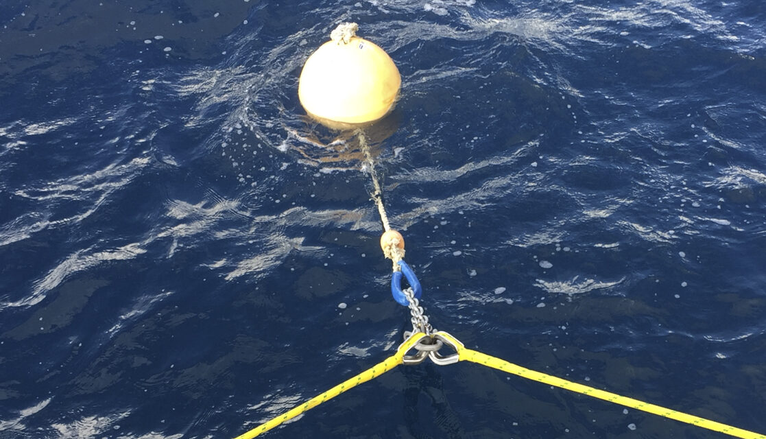 Securing The Mooring Ball